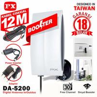 ANTENA TV DIGITAL PX DA 5200 dengan BOSSTER bisa OUTDOOR DAN INDOOR