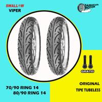 Paket Ban Motor Matic // SWALLOW VIPER 70/90 - 80/90 Ring 14 Tubeless