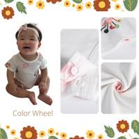Baju bayi pakaian bayi jumper bayi Hachi summer bodysuit original - color wheel, 90