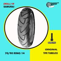 BAN TUBELESS SWALLOW SAMURAI MOTOR MATIC 70/90 RING 14