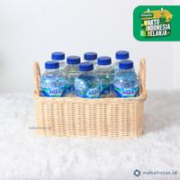 Keranjang Rotan Persegi Aqua - Hampers Parcel Souvenir Wadah Sebaguna