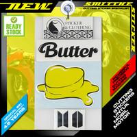 Stiker Logo BTS Butter Cutting Sticker aksesoris Mobil Motor Helm