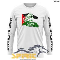 Atasan distro dakwah baju save palestina kaos palestina lengan panjang
