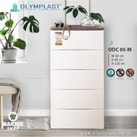 Olymplast Lemari Baju Pakaian Plastik Drawer Cabinet 5 Susun Odc 05 M