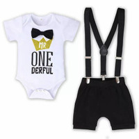 mr onederful baby boy set bday smashcake outfit first birthday clothes
