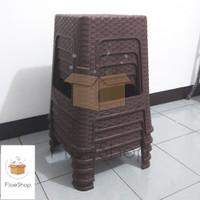 Bangku / Kursi Baso Plastik Model Rotan
