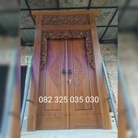 Rumah Gebyok Jawa Jati Ukir Jepara, Kusen Gebyok Polos Minimalis Murah