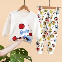 Setelan baju anak bayi motif Elmo lucu celana&lengan panjang adem