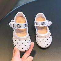 sepatu anak perempuan JETAIME flat shoes anak - putih dot, size 35-36