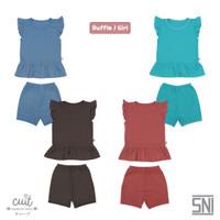 CUIT Setelan Ruffle Kutung Block Color Kojo Series