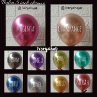 Balon 5 inch Chrome Metalic / balon 5 krom metalik