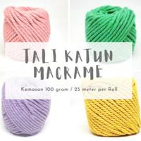 TALI MACRAME 4MM /ROL Tali Katun Bahan Aksesoris DIY Kerajinan Makrame