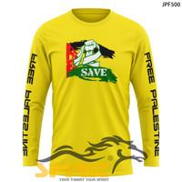 baju kaos palestina pria wanita gamis bendera palestina lengan panjang