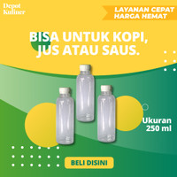 Botol Plastik 250 ML / Botol Almond Jus