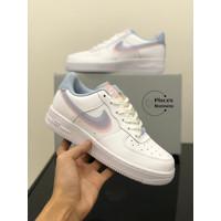 Sepatu Nike Air Force 1 Lv8 White Blue Pink
