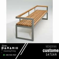 bangku taman besi/bangku minimalis/kursi teras/taman