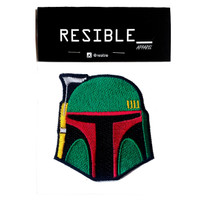 Boba Fett Mandalorian face IRON ON patch emblem bordir badge