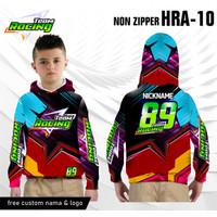 Jersey racing hoodie anak baju balap kaos motor lengan panjang