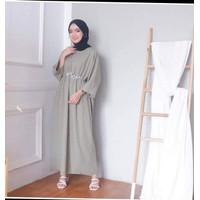 Maria Kaptan Long Dress Wwanita Muslim / Baju Gamis Terbaru 2021 / Gam