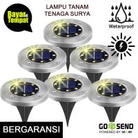 Lampu Tanam Taman Solar Tenaga Surya Outdoor 8 LED Anti Air - White