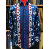 Baju Batik Pria lengan panjang premium bahan Sutra Halus