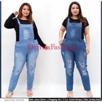 Baju Celana Kodok Jumper Jumpsuit Overall Jeans Ripped RIP Pria Wanita