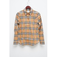 BURBERRY Women Vintage Check Long Sleeves Shirt in Antique Yellow