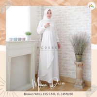 MODESEE MINA DRESS WHITE GAMIS WANITA
