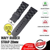 Tali Jam Karet Ukuran 28mm Wavy Rubber Strap Bisa Untuk SFriday