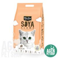KIT CAT Tofu Soya Clump Cat Litter / Pasir Kucing All Varian 7 LT - Peach