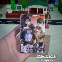 Kartu Foto Attack On Titan action photo card lomo figure levi ackerman