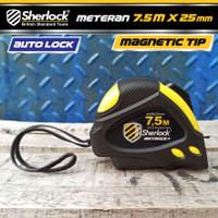 Meteran Sherlock Auto Lock Metrics 7.5 Meter Magnetic Tip