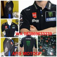 polo shirt yamaha team 2020 full bordir kaos kerah team motogp vr46 46