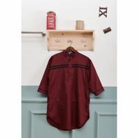 baju muslim Koko Kurta pakistan toyobo merah maroon m l XL xxl xxxl