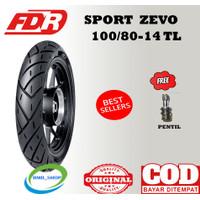Ban Tubles Matic FDR Sport Zevo 100/80 ring 14 motor untuk Beat vario