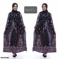 dress homey gamis batik baju wanita Batik Ibu batik longdress Batik - motif 1
