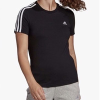 Kaos ADIDAS Trefoil Big Logo with Three Stripes T Shirt