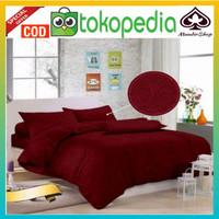 seprei motif polos embos ukuran bedcover 180x200cm seprai warna merah