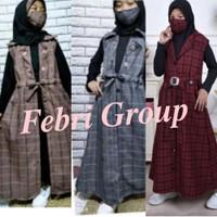 BARU!! Baju Gamis Muslim Model Andin Anak Perempuan Usia 2 - 12 Tahun