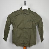 Shirt Kemeja Anak Laki LC Waikiki Hijau Army / Preloved / Murah