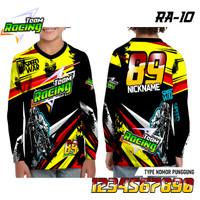 Jersey racing anak speed war baju balap kaos motor lengan panjang