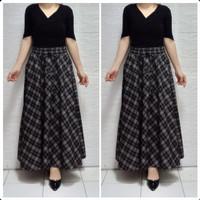 rok panjang wanita maxi skirt baju lebaran terbaru rok lebar muslim