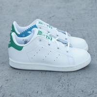 Sepatu Anak Adidas Stan Smith Putih Hijau Original