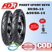 Paket Ban Motor matic FDR Sport Zevo 80/80&90/80 ring 14 beat vario