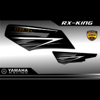 STRIPING LIS RACING STICKER MOTOR RX-KING VARIASI YAMAHA