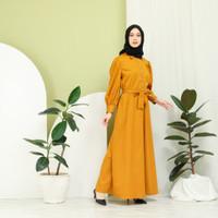 Sarah Long Dress - Gamis Wanita - Mustard