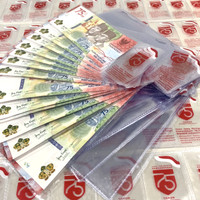 ASLI Cover Mika Plastik Uang 75k Kertas 75 Asli BI Pelindung Original