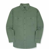 Kemeja Uniqlo Work Shirt Olive Original