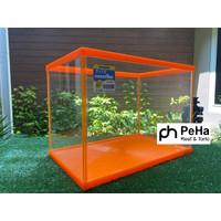 Aquarium Kaca Nisso Family L Oranye - Tank Karantina Ikan Kura Reptil