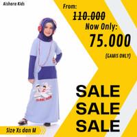 SALE Baju Muslim Anak / Gamis Kaos Anak Raggakids Seri Mudik Biru - XS